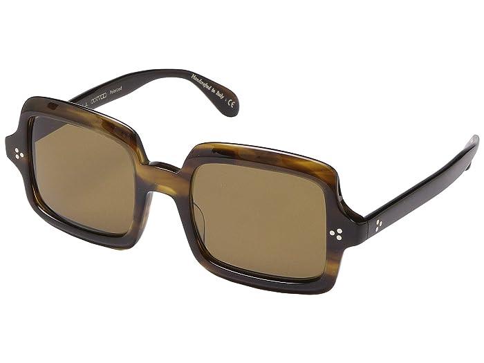 Oliver Peoples Avri (Bark) Fashion Sunglasses