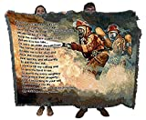 Fire Department - United We Stand - Firefighter Prayer - Charles Freitag - Cotton Woven Blanket Throw - Made in The USA (72x54)