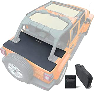 Shadeidea Tonneau Cover for Jeep Wrangler JL 4 Door, JLU (2018-Current) Rear Trunk Ton Cover, Cargo Vinyl Tailgate Cover f...