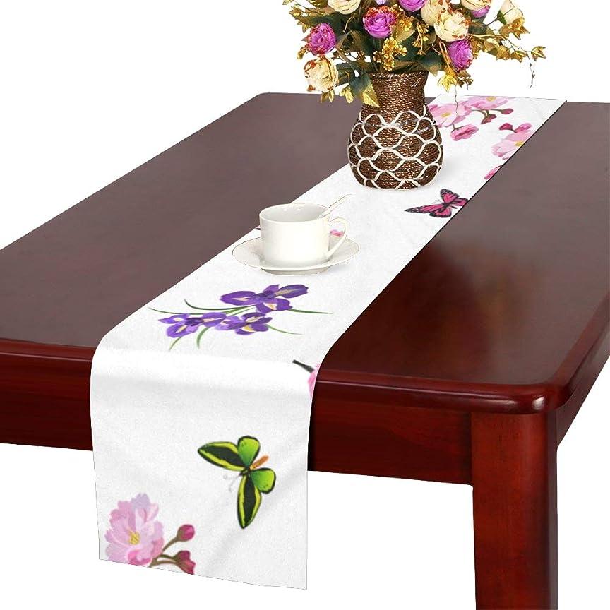 横たわる確率散らすGGSXD テーブルランナー 満開梅の花 クロス 食卓カバー 麻綿製 欧米 おしゃれ 16 Inch X 72 Inch (40cm X 182cm) キッチン ダイニング ホーム デコレーション モダン リビング 洗える