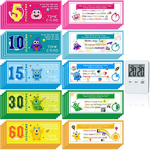 Outus 81 Pieces Time Reward Cards Screen Time Cards Fun and Simple Set to Limit Your Child's Screen Time Develop Children's Time Management Skills for Home Household Supplies