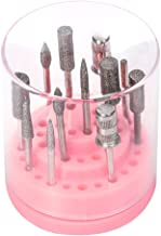 Garrelett Nail Drill Bits Holder Stand Displayer Organizer Container Storage Box 48 Holes Manicure Tools Acrylic Cover