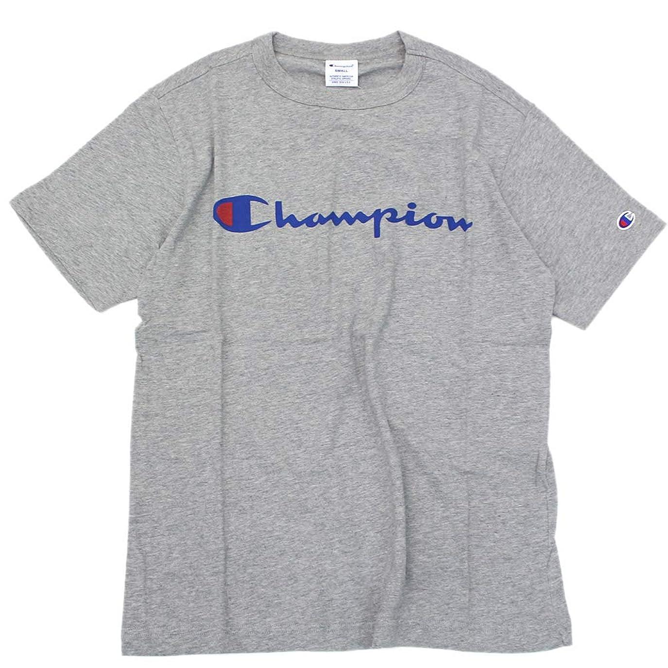 戸惑う喉が渇いたとティームChampion BASIC ロゴプリント Tシャツ【Mens】