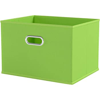 Zeller 14414 - Caja de almacenaje de tela, plegable, 33 x 26 x 22 cm, color verde: Amazon.es: Hogar