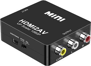 DIGITNOW! HDMI a AV 3 RCA CVBS Compuesto Adaptador Convertidor Conversor de Video y Audio de señal Mini 1080P Compatible c...