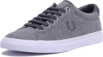 Fred Perry Underspin Womens Graphite Canvas Trainer