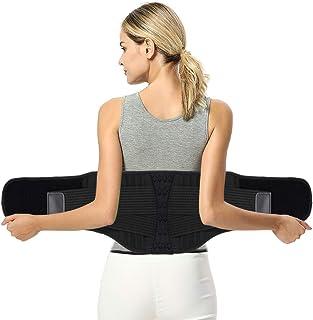 Fyore Faja Lumbar Hombre y Mujer Cinturón Lumbar Soporte Lumbar Regulable Tirador Lumbar Apoyo Inferior Espalda Cinturón Venda para Aliviar El Dolor de Espalda y Prevenir Daños Lumbar Hombre/Mujer