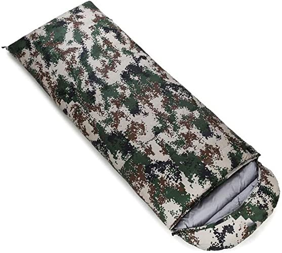 DAFREW Sac de Couchage d'enveloppe, Sac de Couchage extérieur Quatre Saisons avec Sac de Compression (Couleur   Camouflage, Taille   1.5KG)
