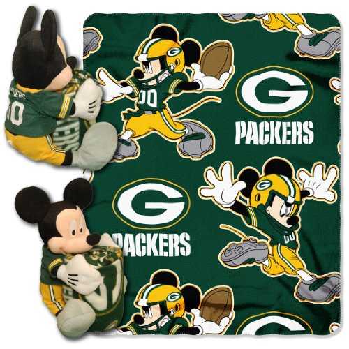 Mickey Mouse Green Bay Packers logo blanket