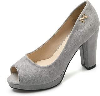 BalaMasa Womens APL12397 Pu Platform Heels