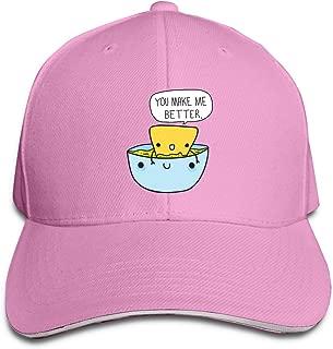 Aiguan Chip & Dip Funny Cap Unisex Low Profile Cotton Hat Baseball Caps Black