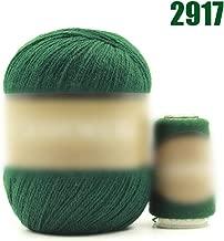 Ovillo de lana de cachemira 100% de cachemira para tejer a mano, 50 g, verde, the size, 1