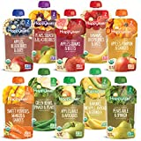 Happy Baby Organics Clearly Crafted Baby Food Pouches Variety Pack, 4 Ounces, 10 Count [Packaging May Vary]