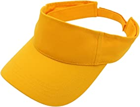Top Level Sun Sports Visor Men Women - 100% Cotton Cap Hat