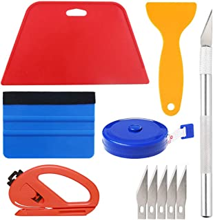 Best Wallpaper Smoothing Tool Kit Include red Squeegee,Medium-Hardness Squeegee, Black Tape Measure,snitty Vinyl Cutter and Craft Knife with 5 Replacement Blades for Adhesive Contact Paper Application Win Review