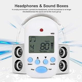 M50 Mini Tempo Sonido de metrónomo Sonido Claro y Fuerte Generador de Tono de Piano de Parada automática para Guitarra