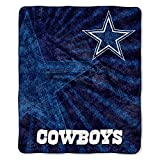 Officially Licensed NFL Dallas Cowboys 'Strobe' Sherpa on Sherpa Throw Blanket, 50' x 60', Multi Color