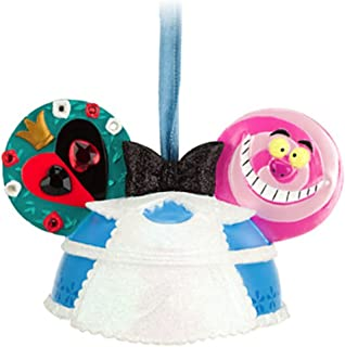 Disney Parks Alice in Wonderland Mickey Mouse Ears Hat Ornament NEW RELEASE