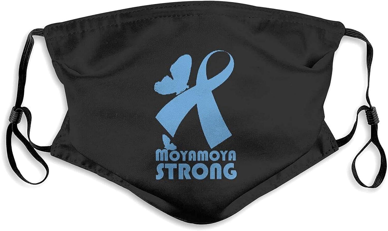 Moyamoya Awareness Face Mask with Filter Pocket Washable Balaclava Comfortable Reusable Adjustable Fabric Masks for Outdoor