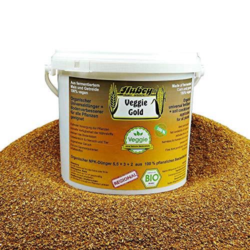 Hubey Hochwirksamer Bio Dünger (2,5kg) I Vegan I Veggie Gold Naturdünger I Bokashi Dünger I Organischer Universal-Dünger für gesunde Pflanzen