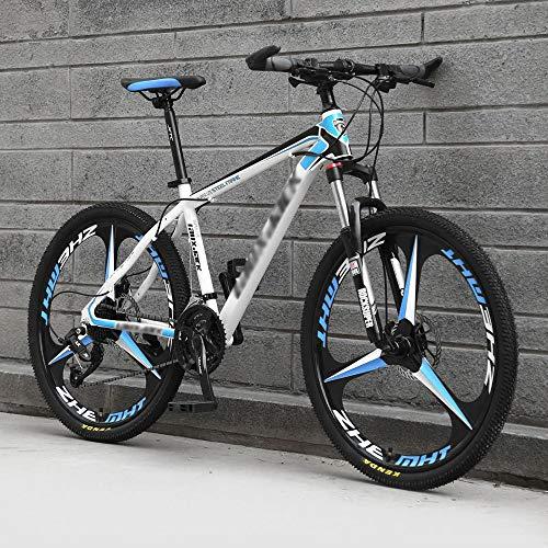 DKZK Bicicleta De MontañA, 24/26 Pulgadas para Adultos con 21/24/27/30 Velocidad Bicicleta De MontañA Ligera AleacióN De Aluminio Cuadro De SuspensióN Completa Freno