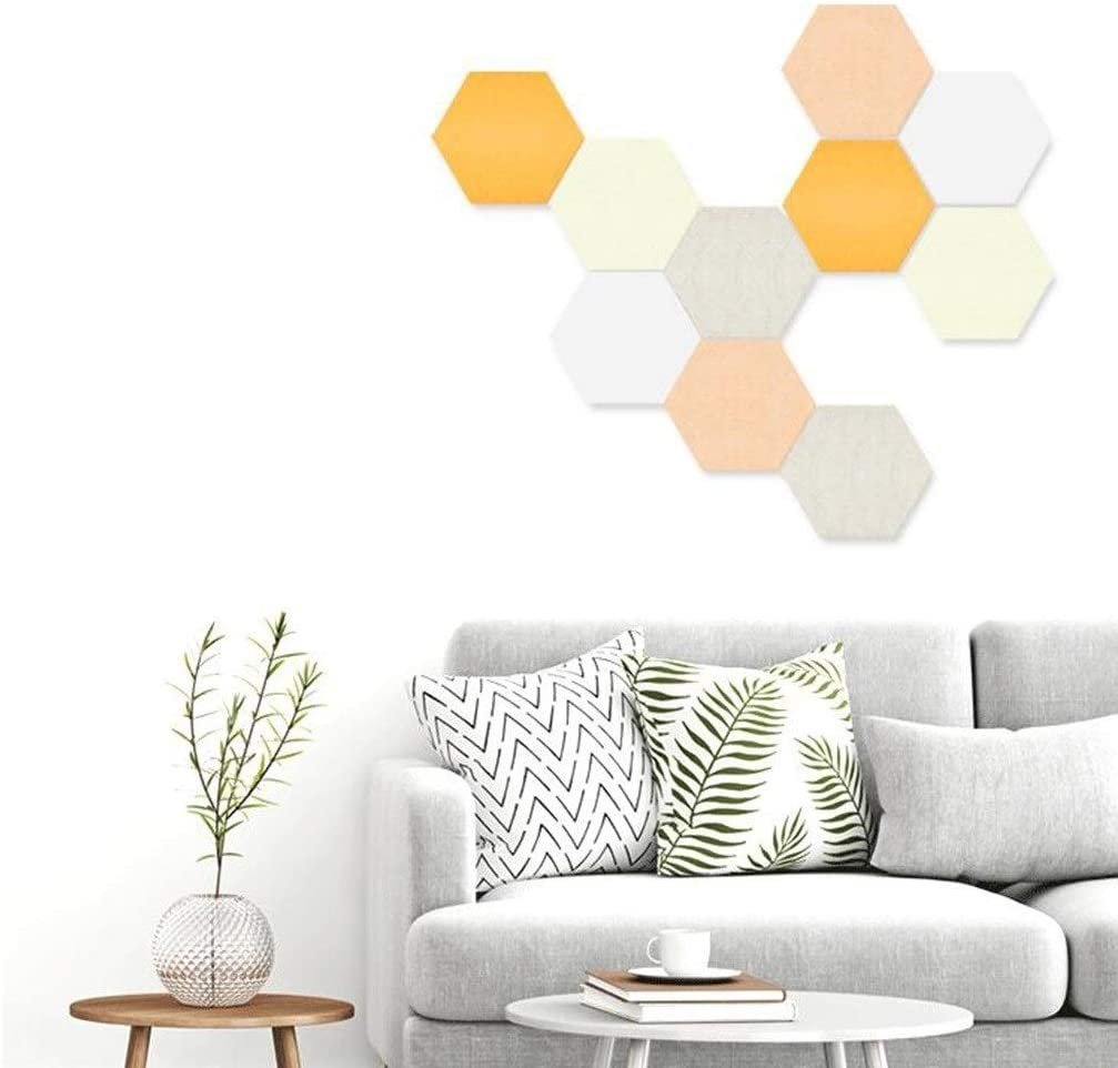 Color : #1 10PCS Felt Board Living Room Office Acoustic Panels Not Deformed Easy to Install Notice Board Photo Wall Message Board