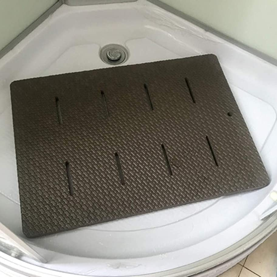 レバー折雇うエヴァ 厚く じゃない-スリップ シャワーカーペット,ソフト 快適さ バスルームカーペット,フット マッサージ 区域敷物 子供 ハイハイマット プレイマット-e 60x42cm(24x17inch)