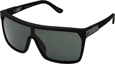 Spy Optic Flynn Sunglasses Soft Matte Black w/Happy Grey Green Lens