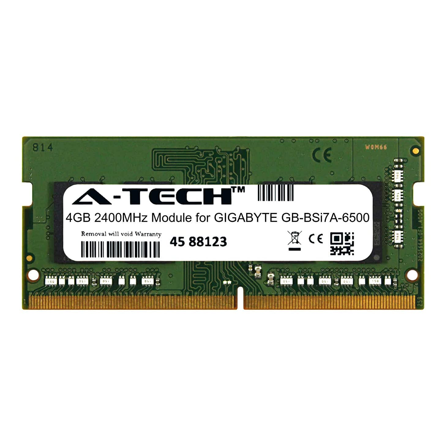 A-Tech 4GB Module for GIGABYTE GB-BSi7A-6500 Laptop & Notebook Compatible DDR4 2400Mhz Memory Ram (ATMS385215A25824X1)