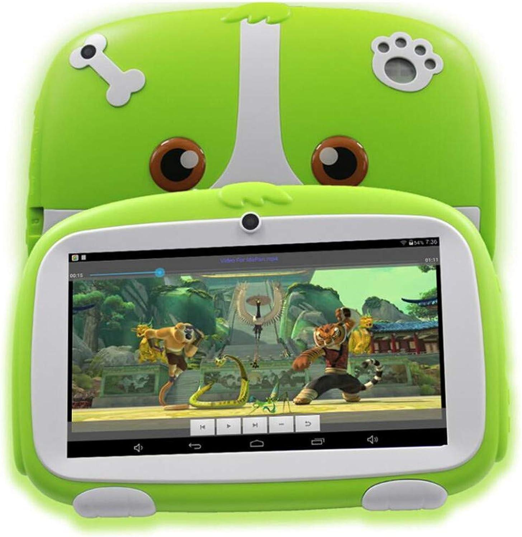 Kids Tablet 7 Inch A33 Android 6.0 Kinder Learning Education Tablet Pc WiFi Blautooth 8GB Quad Core M756 Tablet mit kostenlosem Gummi-Cover für Kids Birthday Geschenk,Grün