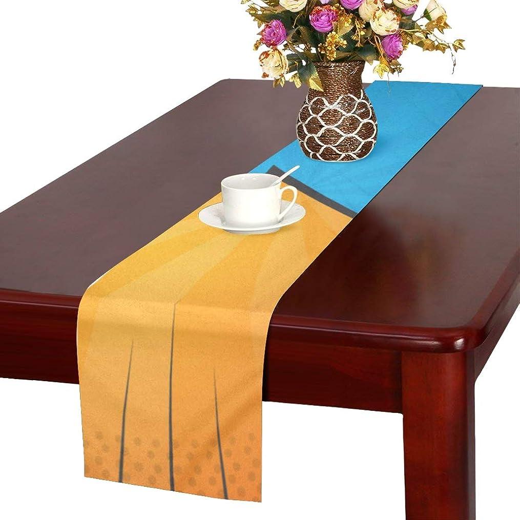ジョージスティーブンソン口ひげできればLKCDNG テーブルランナー 眩しい稲妻 クロス 食卓カバー 麻綿製 欧米 おしゃれ 16 Inch X 72 Inch (40cm X 182cm) キッチン ダイニング ホーム デコレーション モダン リビング 洗える