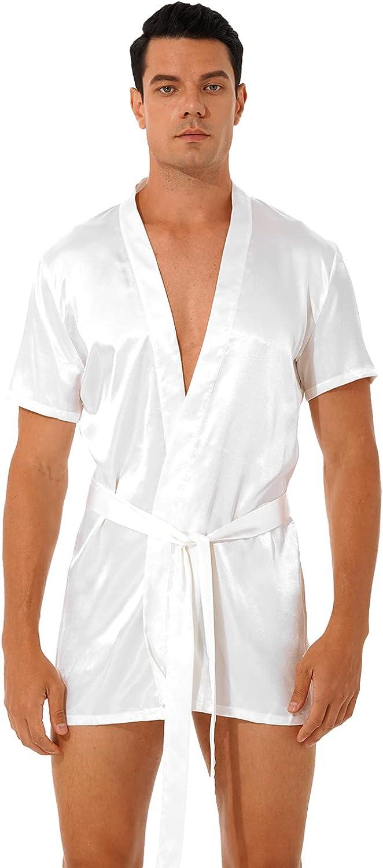 Brand new zdhoor Men's Short Sleeve Kimono Robe Satin Su Floral Nashville-Davidson Mall Lace Silky