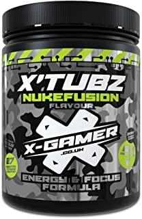 X-Gamer Nukefusion Gaming Energy and Focus Drink for Maximized Awareness, Endurance & Heightened Focus & Reflexes   Lime Blend   60 Servings