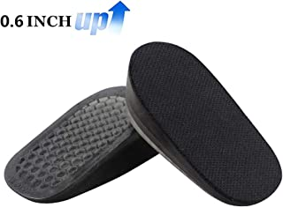 Height Increase Insoles,Shoe Lift Inserts,Gel Heel Lift Inserts,Heel Cushion Inserts,Heel Lift,Height Increase Insoles for Leg Length Discrepancies,1 Pair (0.6IN)