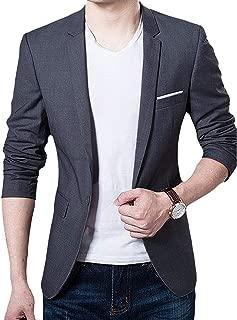 Slim Fit Single One Button Blazer Jackets for Men