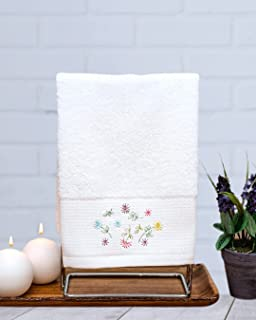 Toalha de Mão para Lavabo, jogo c/2 peças, Bordado floral, Importado de Portugal