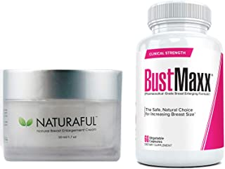Naturaful (1 Jar) & BustMaxx (60 caps): The Ultimate Breast Enhancement Bundle for Jaw-Dropping Results   Breast Enlargeme...