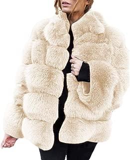Women's Long Sleeve Winter Fluffy Faux Fur Warm Coat Sherpa Jacket Outwear