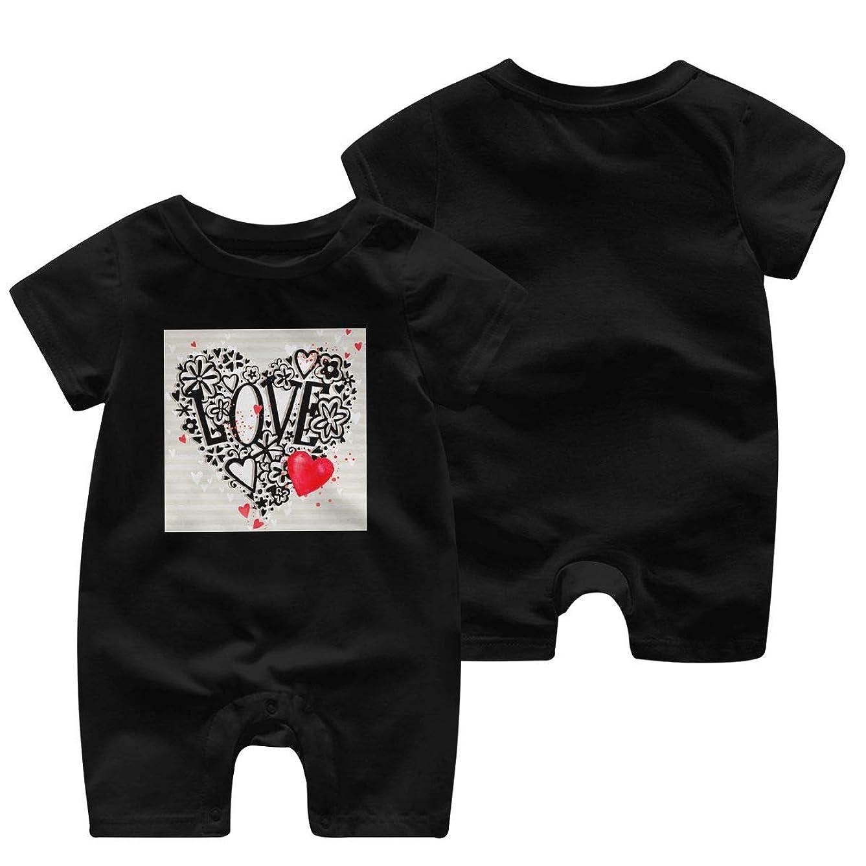 配る学ぶ悲鳴あなたを愛してます ベビー服 肌着 新生児 ロンパース 夏 半袖 ジャンプスーツ ベビー 服 前開き 赤ちゃん ロンパースジャンプスーツ 男女兼用 Tシャツ 100%綿製 柔らかい (0-24m)