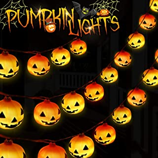Growsland Halloween String Lights Pumking Light Talking Halloween Decorations Battery Operated Sensing Control 10 LED 10ft Indoor & Outdoor Party Holiday Decor Lights