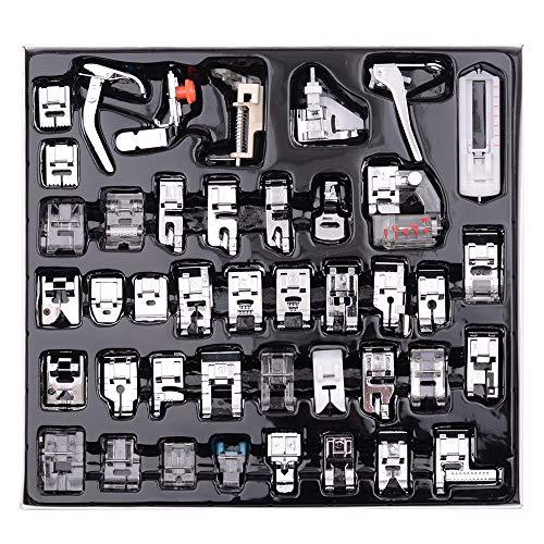 Decdeal Kit de 42 Piezas Multifuncional Prensatelas Accesorios para Máquina de Coser Presser Feet, Pies de Prensatelas de Fabricación Profesional de Costura para Piezas