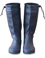 [フィールドア] レインブーツ 【全5カラー / 23cm~28cm 対応 / 19cm~21cm キッズ対応】 収納袋付 男女兼用 メンズ レディース キッズ レインシューズ 長靴 アウトドア ドローコード コンパクト収納 子供