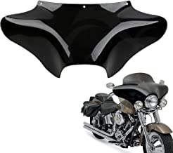 TCMT Vivid Black Front Outer Batwing Fairing Fits For Yamaha V Star 650 1100 classic