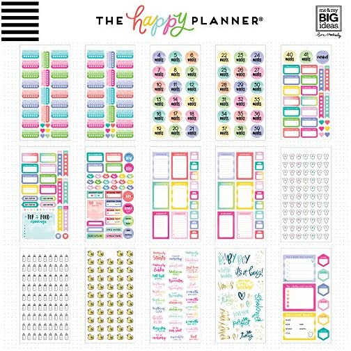 me & my BIG ideas Sticker Value Pack for Classic Planner - The Happy Planner Scrapbooking Supplies - Pregnancy Theme… |
