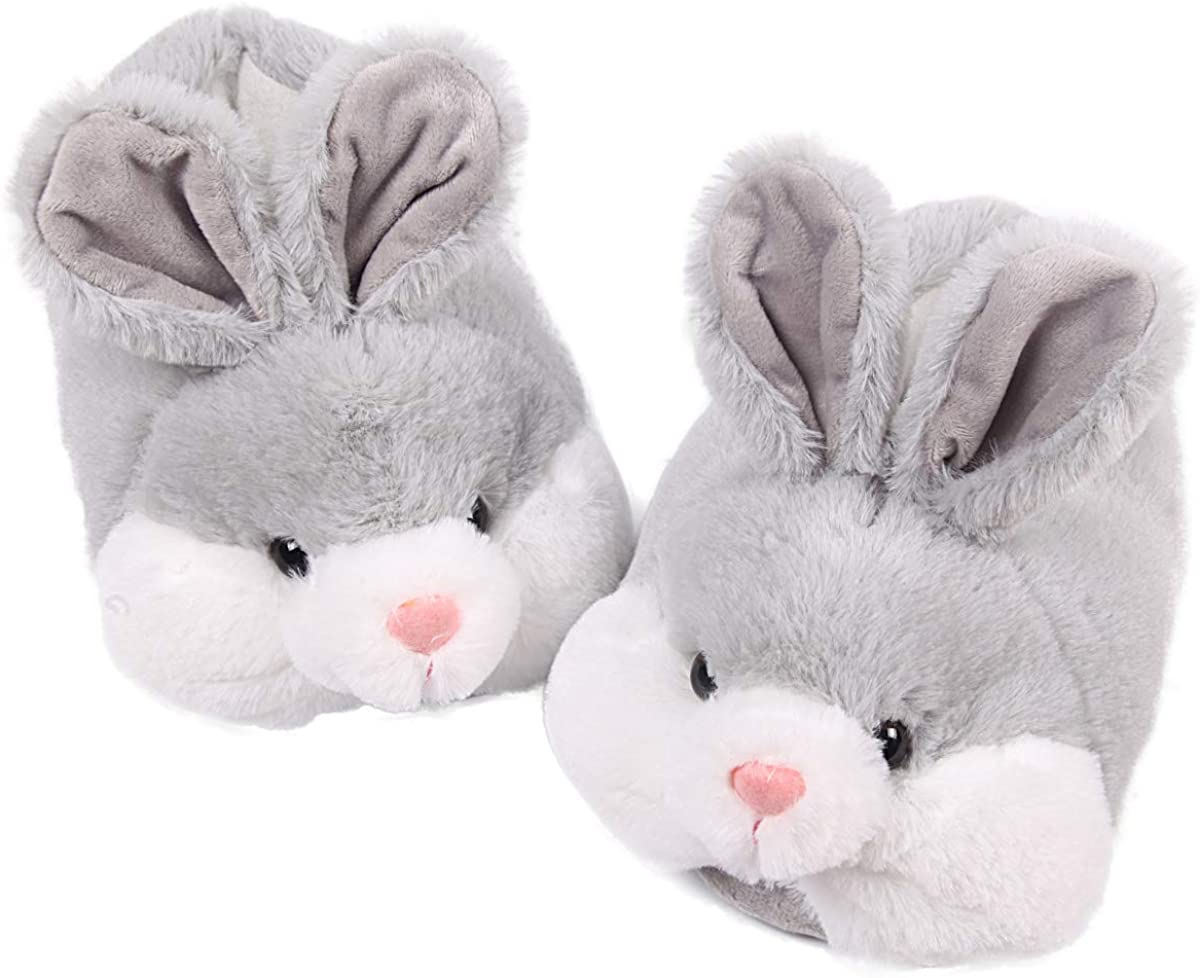 Caramella Bubble Classic Bunny Slippers for Women Funny Animal Slippers for Girls Cute Plush Rabbit Slippers Easter Bunny Slipppers Gifts