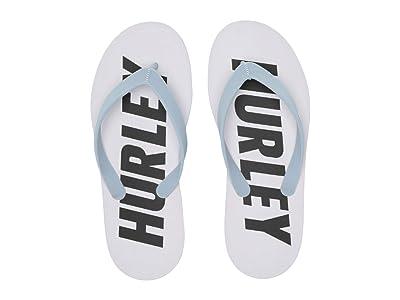 Hurley One Only Fastlane Sandals (White/Black) Men