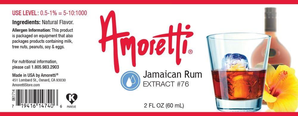 Amoretti Extracto de Ron jamaicano,