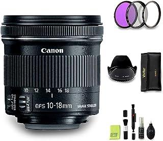 GYTE Bundle | Objetivo Canon - EF-S 10-18mm f/45-56 IS STM - Lente Gran Angular para Cámara Reflex Digital + Kit de Filtro de 3 Piezas + Juego de Limpieza | Paquete de Accesorios Premium