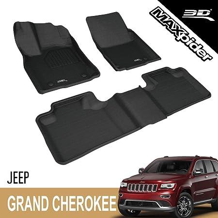 Omac Fußmatten Kompatibel Mit Jeep Grand Cherokee 2013 2019 Hoher Rand Gummimatten Schwarz Auto