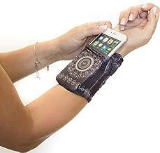 Sprigs Banjees 2 Pocket Wrist Wallet - Batik Slate Gray, One Size Fits Most
